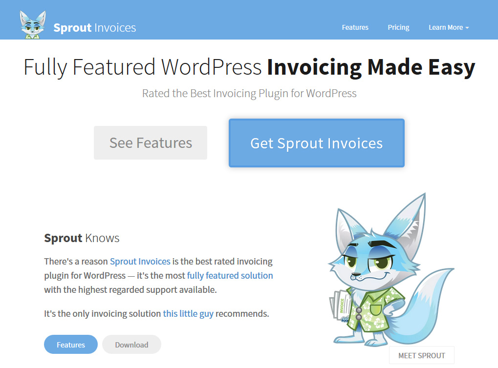 WordPress plugin Sprout Invoices