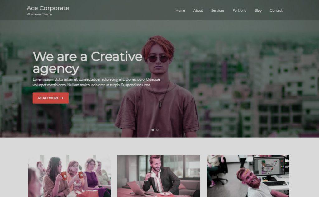 WordPress theme example
