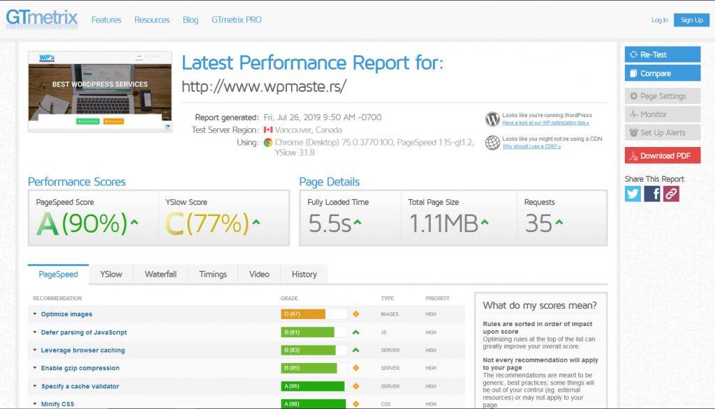 GT metrix will help you identify server-side issues