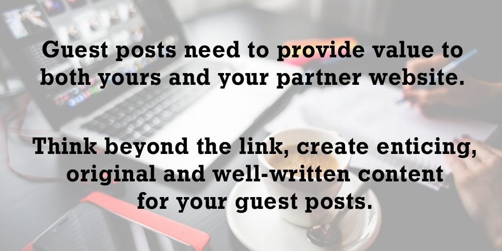 think beyond the link when guest blogging