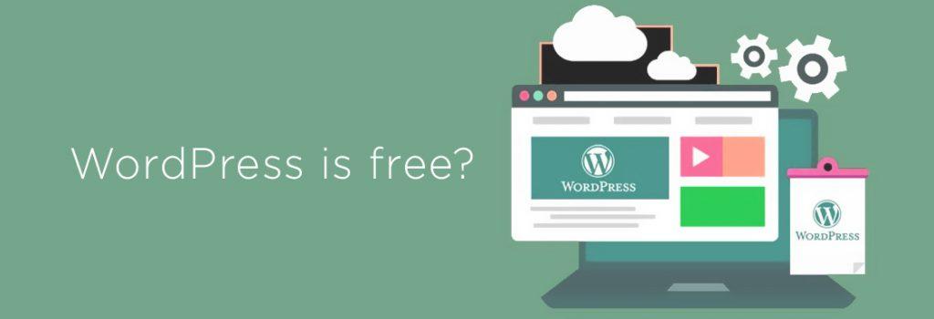 Yes, WordPress is free!