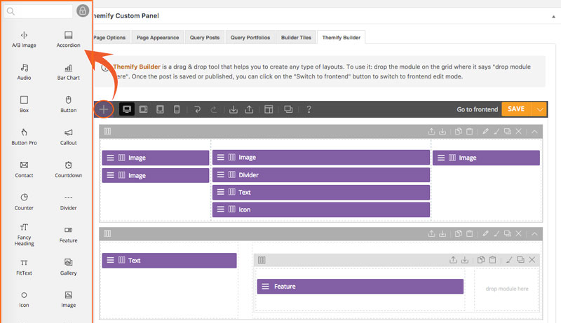 Themify WordPress builder is one of the easiest WordPress tools for this purpose