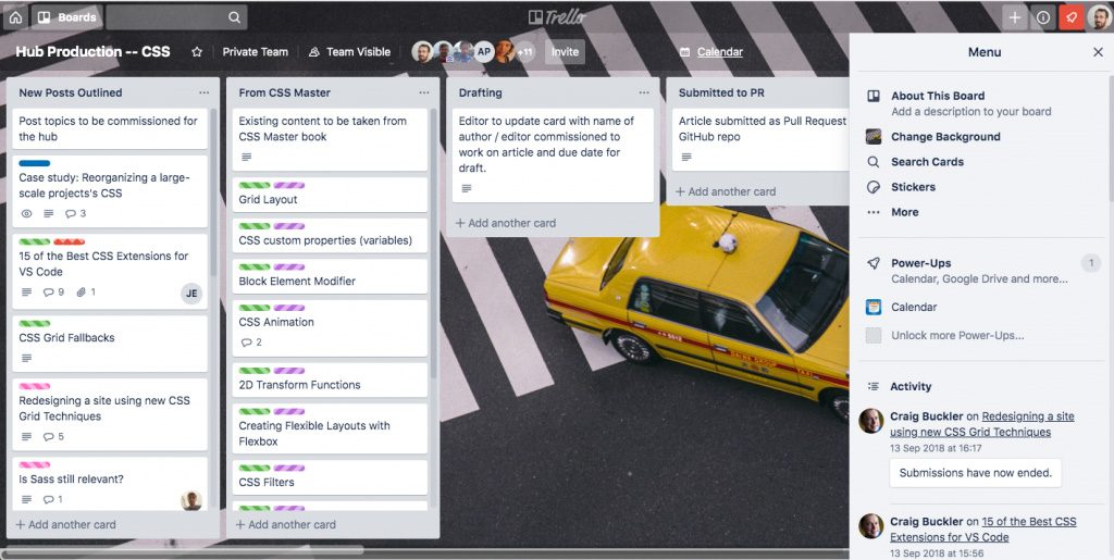 We can recommend Trello for project management