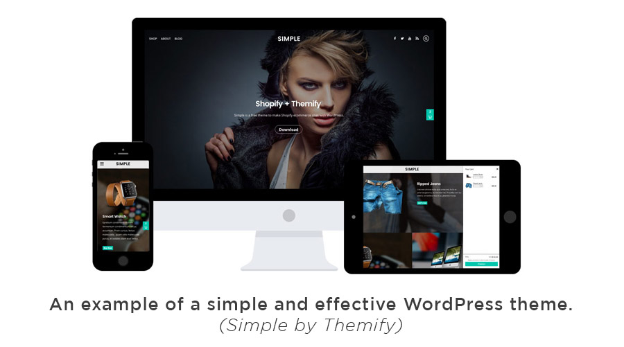 Simple WordPress theme by Themify