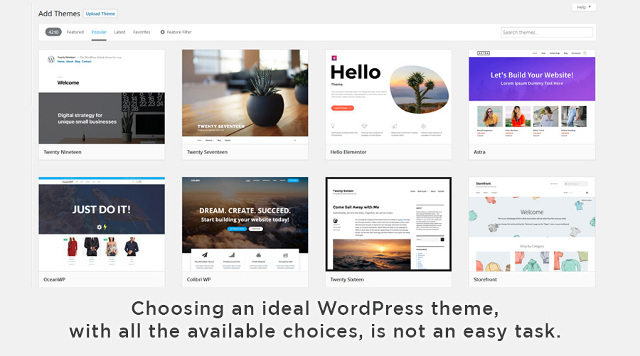 WordPress theme choices are almost limitless.