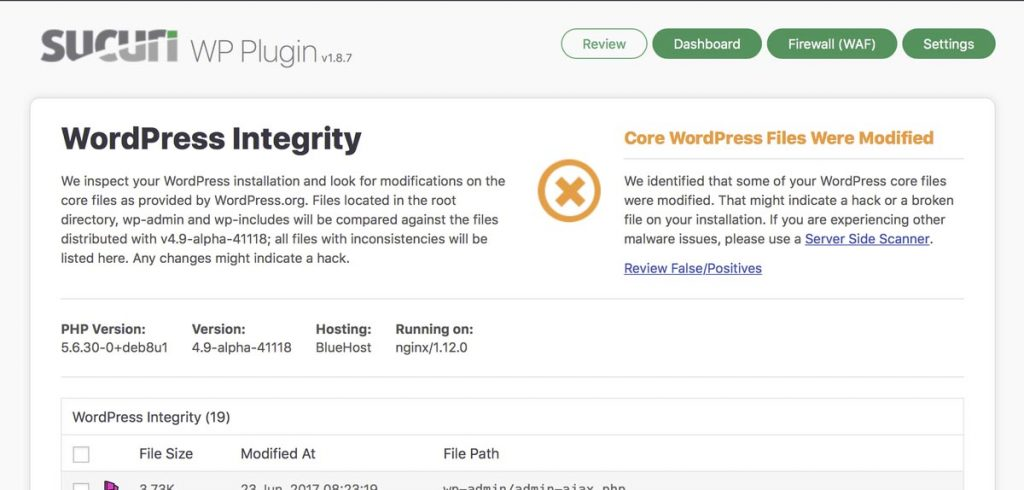 website security functionality