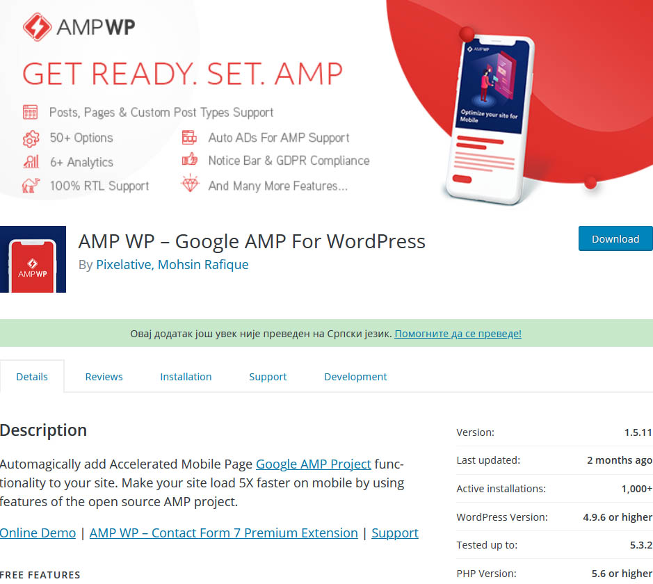 AMP WP promises better performance through Accelerated Mobile Pages