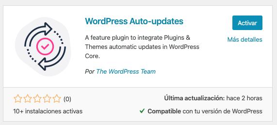 WordPress automatic