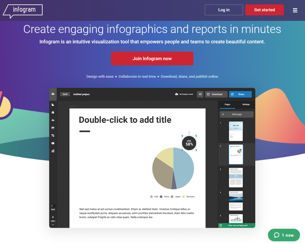 interactive infographic creation tool