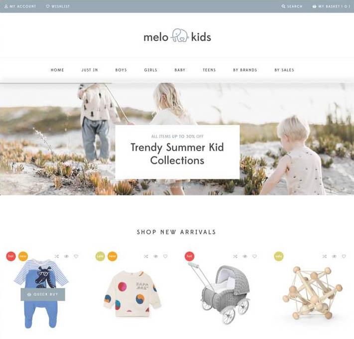 MeloKids WordPress theme that is fast and lightweight