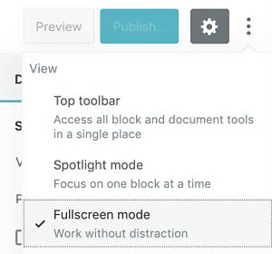 fullscreen WordPress