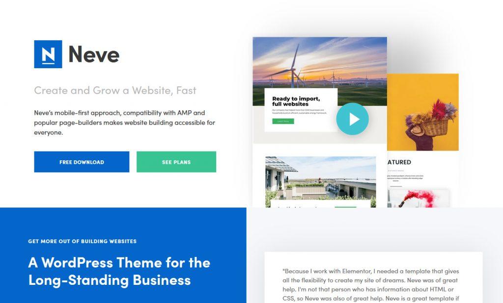 Neve for classroom website